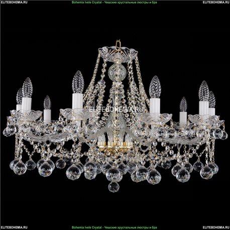 1413/10/300/G/Balls Bohemia Ivele Crystal, Чешская Подвесная люстра с хрустальным рожком