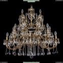 1742/10+10+5+5/300/A/GB Хрустальная большая люстра Bohemia Ivele Crystal