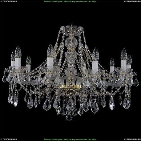 1413/10/300/L Bohemia Ivele Crystal, Чешская Подвесная люстра с хрустальным рожком