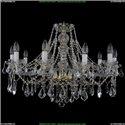 1413/10/300/G/Leafs Хрустальная подвесная люстра Bohemia Ivele Crystal
