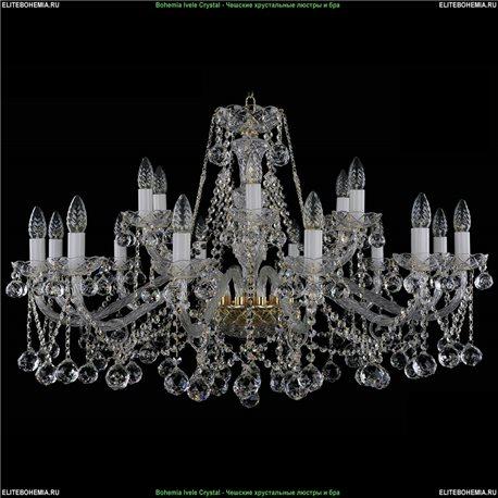 1413/12+6/360/B Bohemia Ivele Crystal, Чешская Подвесная люстра с хрустальным рожком