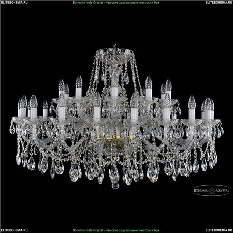 1413/16+8/400 Bohemia Ivele Crystal, Чешская Подвесная люстра с хрустальным рожком