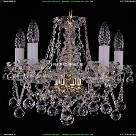 1413/5/141/G/Balls Bohemia Ivele Crystal, Чешская Подвесная люстра с хрустальным рожком
