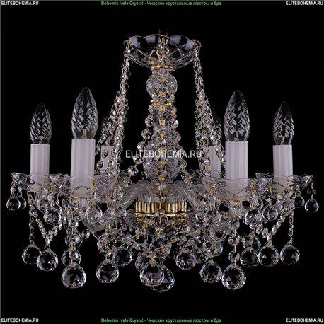1413/6/165/G/Balls Bohemia Ivele Crystal, Чешская Подвесная люстра с хрустальным рожком