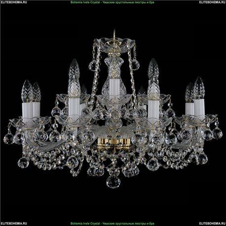 1413/8+4/220/B Bohemia Ivele Crystal, Чешская Подвесная люстра с хрустальным рожком