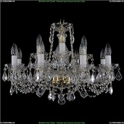 1413/8+4/220/G/Leafs Хрустальная подвесная люстра Bohemia Ivele Crystal