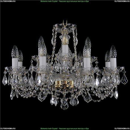 1413/8+4/220/L Bohemia Ivele Crystal, Чешская Подвесная люстра с хрустальным рожком