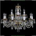 1614/8+4/200 Хрустальная подвесная люстра Bohemia Ivele Crystal