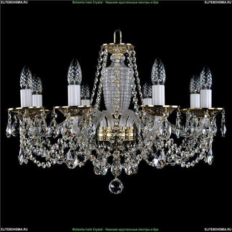 1614/8/200 Bohemia Ivele Crystal, Чешская Подвесная люстра с литым рожком