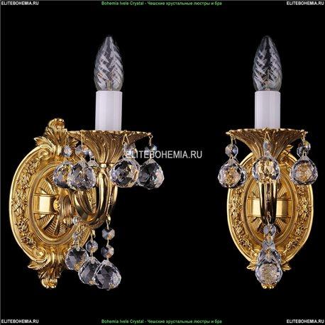 1700/1/A/G/Balls Bohemia Ivele Crystal, Чешская Бра с литым рожком