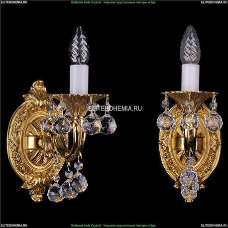 1700/1/B/G/Balls Bohemia Ivele Crystal, Чешская Бра с литым рожком