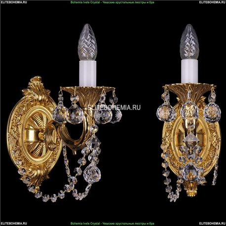 1700/1/C/B/G Bohemia Ivele Crystal, Чешская Бра с литым рожком