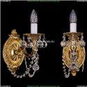 1702B/1/175/C/G/Balls Бра с элементами художественного литья и хрусталем Bohemia Ivele Crystal