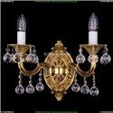 1702B/2/175/A/G/Balls Бра с элементами художественного литья и хрусталем Bohemia Ivele Crystal