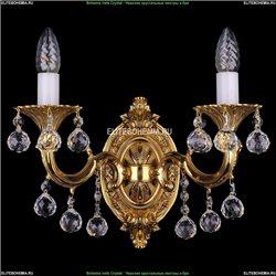 1700/2/B/G/Balls Бра с элементами художественного литья и хрусталем Bohemia Ivele Crystal (Богемия)