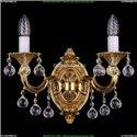 1702B/2/175/B/G/Balls Бра с элементами художественного литья и хрусталем Bohemia Ivele Crystal