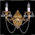1702B/2/175/C/G/Balls Бра с элементами художественного литья и хрусталем Bohemia Ivele Crystal