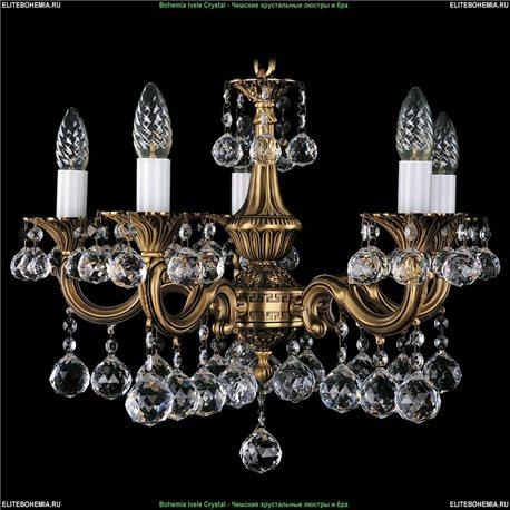 1701/5/A/FP/B Bohemia Ivele Crystal, Чешская Подвесная люстра с литым рожком