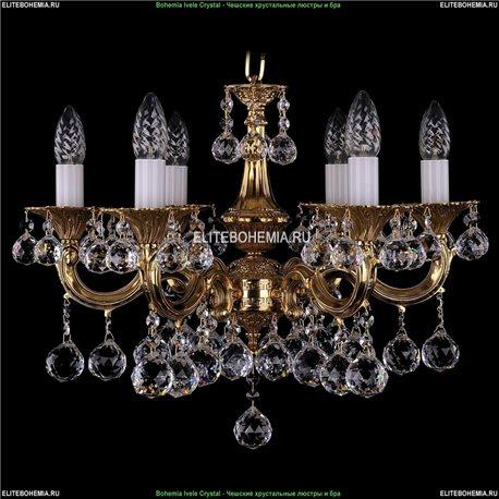 1701/6/A/G/Balls Bohemia Ivele Crystal, Чешская Подвесная люстра с литым рожком