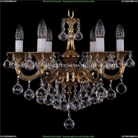 1701/6/B/G/Balls Bohemia Ivele Crystal, Чешская Подвесная люстра с литым рожком