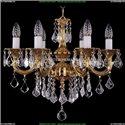 1701/6/181/B/G/Leafs Хрустальная подвесная люстра Bohemia Ivele Crystal