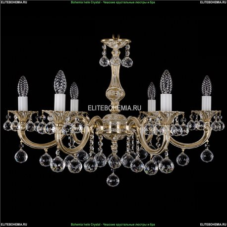 1702/6/A/GW/Balls Bohemia Ivele Crystal, Чешская Подвесная люстра с литым рожком