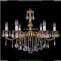 1702/6/250/B/G/Leafs Хрустальная подвесная люстра Bohemia Ivele Crystal