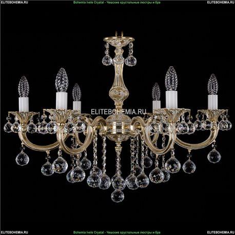 1702/6/B/GW/Balls Bohemia Ivele Crystal, Чешская Подвесная люстра с литым рожком