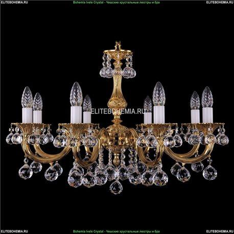 1702/8/A/G/Balls Bohemia Ivele Crystal, Чешская Подвесная люстра с литым рожком