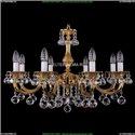 1702/8/250/A/G/Balls Хрустальная подвесная люстра Bohemia Ivele Crystal
