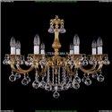1702/8/250/B/G/Balls Хрустальная подвесная люстра Bohemia Ivele Crystal