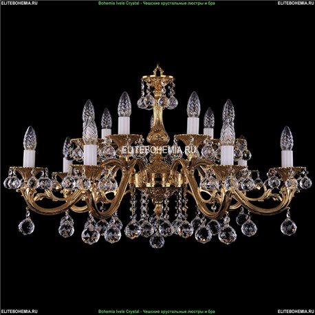 1703/14/A/G/Balls Bohemia Ivele Crystal, Чешская Подвесная люстра с литым рожком
