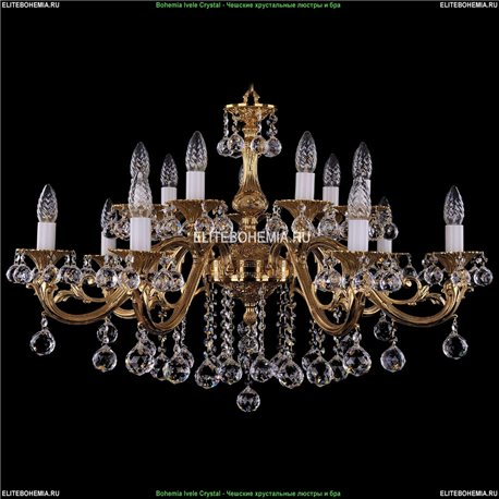 1703/14/B/G/Balls Bohemia Ivele Crystal, Чешская Подвесная люстра с литым рожком