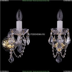1402B/1/195/XL/G/Leafs Хрустальное бра Bohemia Ivele Crystal