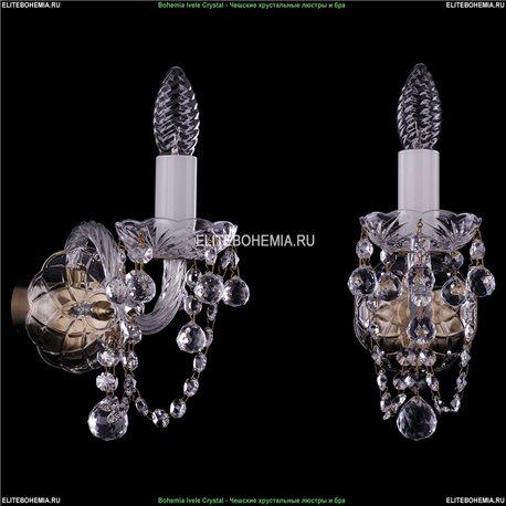 1400/1/Pa/Balls Хрустальная бра Bohemia Ivele Crystal (Богемия)