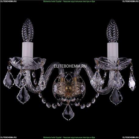 1400/2/Big/Pa/Leafs Хрустальная бра Bohemia Ivele Crystal (Богемия)