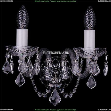 1400/2/Ni/Leafs Хрустальная бра Bohemia Ivele Crystal (Богемия)