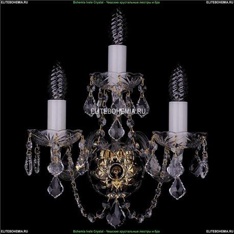 1400/3/Leafs Хрустальная бра Bohemia Ivele Crystal (Богемия)