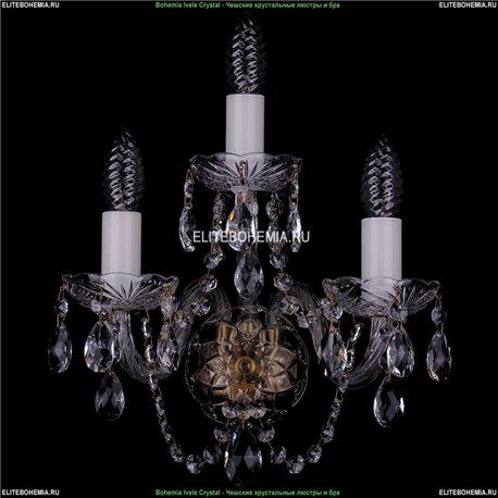 1400/3/Pa Хрустальная бра Bohemia Ivele Crystal (Богемия)