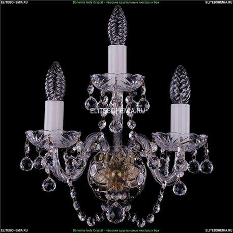 1400/3/Pa/Balls Хрустальная бра Bohemia Ivele Crystal (Богемия)