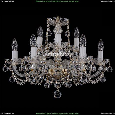 1402/6+3/195/G/Balls Хрустальная подвесная люстра Bohemia Ivele Crystal (Богемия)