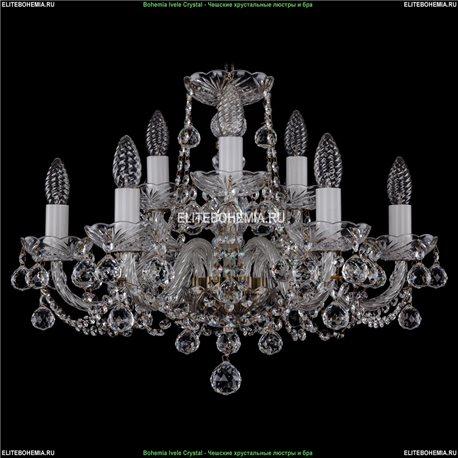 1402/6+3/195/Pa/Balls Хрустальная подвесная люстра Bohemia Ivele Crystal (Богемия)