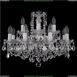 1402/8+4/195/Ni/Leafs Хрустальная подвесная люстра Bohemia Ivele Crystal (Богемия)