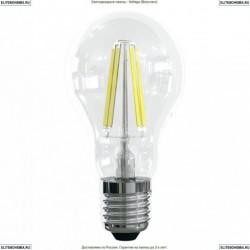 7102 (VG10-А1E27warm10W-F) Voltega Лампа светодиодная филаментная E27 10W 2800К, Груша прозрачная (ЛОН)