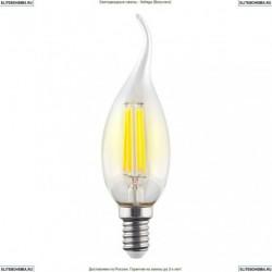 7018 (VG10-CW1E14cold6W-F) Voltega Лампа светодиодная филаментная E14 6W 4000К, Свеча на ветру