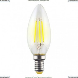 7019 (VG10-C1E14warm6W-F) Voltega Лампа светодиодная филаментная E14 6W 2800К, Свеча