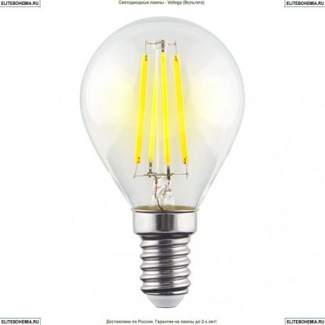 7022 (VG10-G1E14cold6W-F) Voltega Лампа светодиодная филаментная E14 6W 4000К, Шар