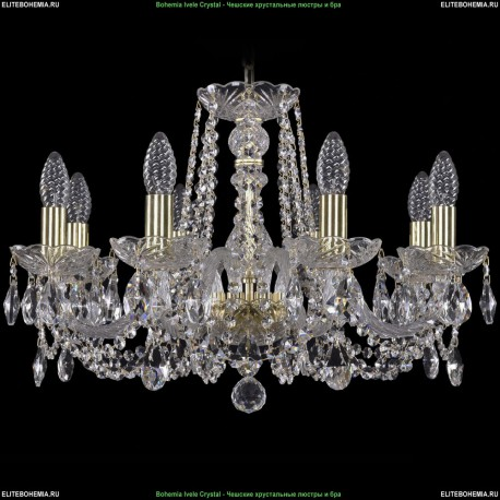 1402/8/195/G Bohemia Ivele Crystal, Чешская Подвесная люстра с хрустальным рожком