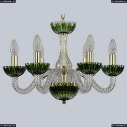 1308/6/165 G Cl/Clear-Green/H-1K Хрустальная люстра Bohemia Ivele Crystal (Богемия), 1308