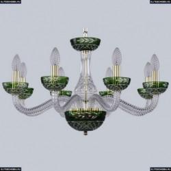 1309/8/240 G Cl/Clear-Green/H-1J Хрустальная люстра Bohemia Ivele Crystal (Богемия), 1309